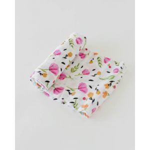 Little Unicorn Organic Cotton Muslin Swaddle Single Berry & Bloom