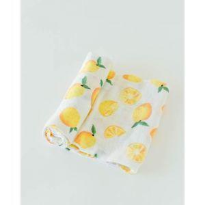 Little Unicorn Cotton Muslin Swaddle Single Lemon