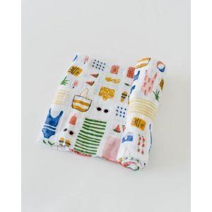 Little Unicorn Cotton Muslin Swaddle Single Beach Bag