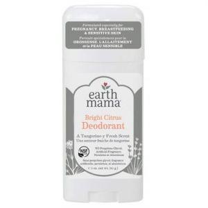 Earth Mama Bright Citrus Deodorant For Pregnancy, Breastfeeding and Sensitive Skin 85g
