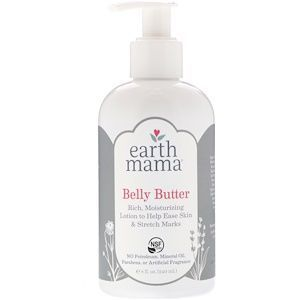 Earth Mama Organics Belly Butter Rich Moisturizing Lotion to Help Ease Skin and Stretch Marks 240 ml