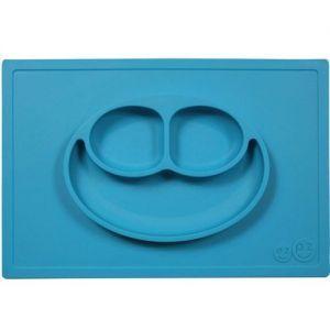 EZPZ 快乐吸盘餐盘 有三格 ( 篮色 )