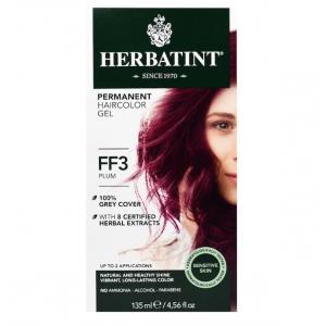 意大利Herbatint天然植物染发剂 FF3- 李子红色 40余年无氨植物染发专家 孕妇可用
