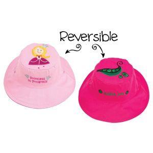 FlapJackKids Kid's Sun Hat Princess/Sweet Pea Pink Large (4-6 Years)