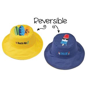 FlapJackKids Kid's Sun Hat Surfer/Popsicle Medium (2-4 Years)