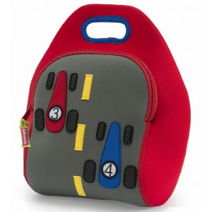 DabbaWalla Machine Washable Insulated Lunch Bag - The Fast Track on Red