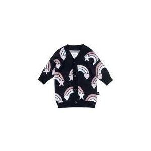 Huxbaby Rainbow Knit Cardi - Black
