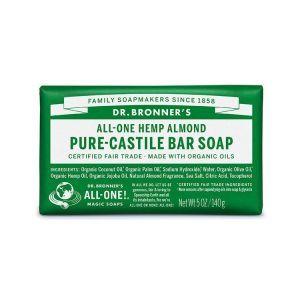 Dr. Bronner's Pure Castile Bar Soap Almond 140g