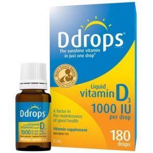 Ddrops Vitamin D 1000IU 180 Drops