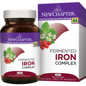 New Chapter Fermented Iron Complex 60 Vegetarian Tablets