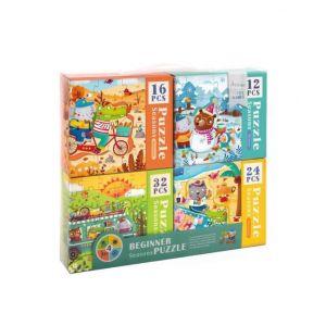Mideer Beginner 4 in 1 Puzzle - Seasons 3+