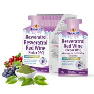 MapleLife Resveratrol Red Wine 20 x 15ml Sachets