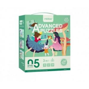 Mideer Advanced Puzzles Level 5 - Fairy Princess & Forest Party & Dream Seabed 4+