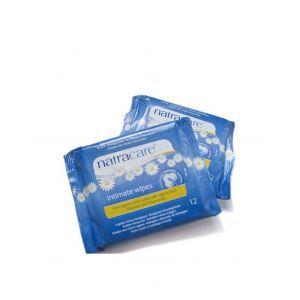 Natracare Organic Intimate Wipes 12ct