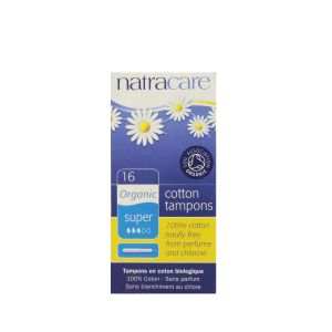 Natracare Organic Tampons with Applicator 16 Super Tampons