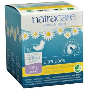 Natracare Organic Ultra Pads with Wings 10 Pads Long