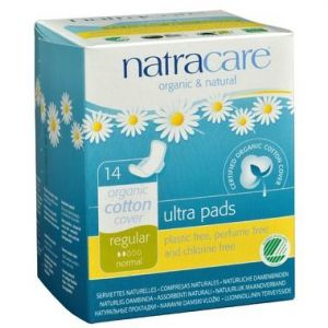 Natracare Organic Ultra Pads with Wings 14 Pads Regular