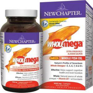 New Chapter Wholemega Fish Oil 1000mg 60 capsules