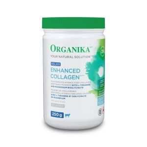 Organika Enhanced Collagen Protein Powder Relax with Magnesium & L-Theanine 250g