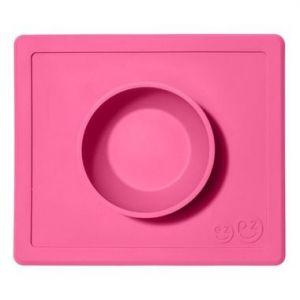 EZPZ 快乐吸盘餐盘 有碗 ( 粉红色 )