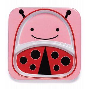 Skip Hop Zoo Divided Plate - Ladybug