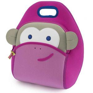 DabbaWalla Machine Washable Insulated Lunch Bag - Pink Monkey