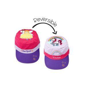Flapjackkids Reversible Kids Cap - Princess/Unicorn -2Y-6Y