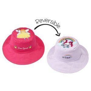Flapjackkids Reversible Kids Sun Hat - Fairy/Unicorn - 4Y-6Y