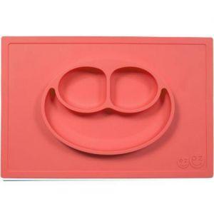 EZPZ 快乐吸盘餐盘 有三格 ( 红色 )