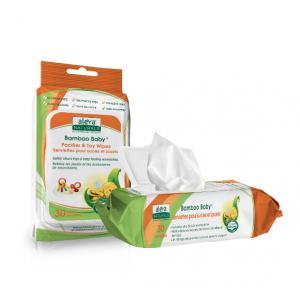 Aleva Bamboo 天然有機 寶寶奶嘴玩具消毒濕巾30 Wipes