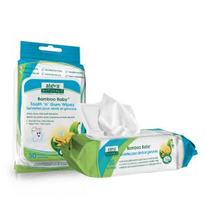 Aleva 纯天然有机宝宝清洁牙齿口腔专用湿巾 30Pk