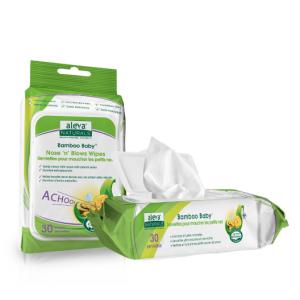 Aleva Naturals 天然有機寶寶鼻涕鼻塞專用濕紙巾 30 Wipes