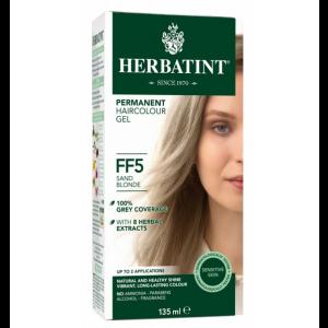 意大利Herbatint天然植物染发剂 FF5-沙滩亚麻色 40余年无氨植物染发专家 孕妇可用