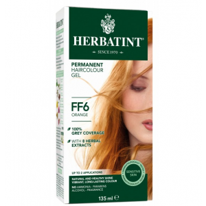 意大利Herbatint天然植物染发剂 FF6-橙色 40余年无氨植物染发专家 孕妇可用