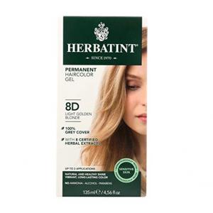 意大利Herbatint天然植物染发剂 8D-浅金亚麻色 40余年无氨植物染发专家 孕妇可用