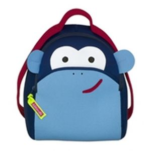DabbaWalla Machine Washable Preschool Backpack - Blue Monkey