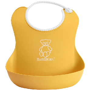 BabyBjorn Soft Bib - Yellow 4 Months+
