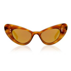 Sons + Daughters Sunglasses Josie Creme Brulee with Mirror