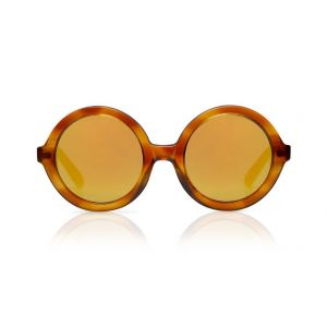Sons + Daughters Sunglasses Lenny Yellow Creme Brulee with Mirror