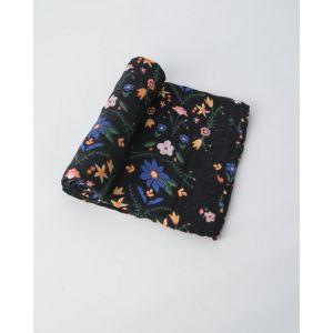 Little Unicorn Cotton Muslin Swaddle Single Floral Stitch