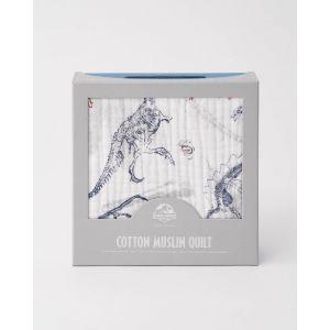 Little Unicorn Cotton Muslin Quilt - Paleontologic