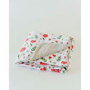 Little Unicorn Organic Cotton Muslin Quilt Summer Poppy