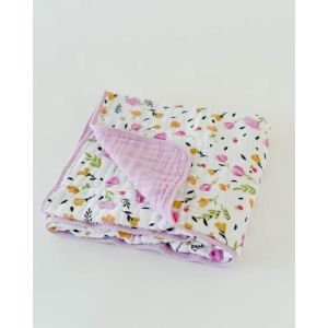 Little Unicorn Organic Cotton Muslin Quilt Berry & Bloom