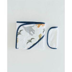 Little Unicorn Cotton Hooded Towel & Wash Cloth Dino Friends