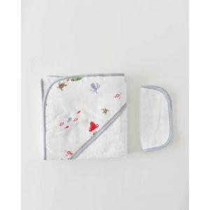 Little Unicorn Cotton Hooded Towel & Wash Cloth Mermaid