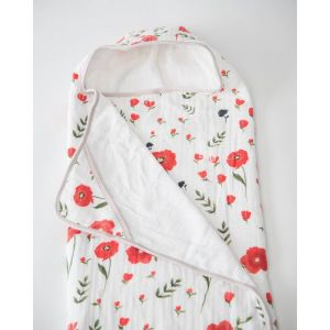 Little Unicorn Cotton Hooded Towel Big Kid Summer Poppy