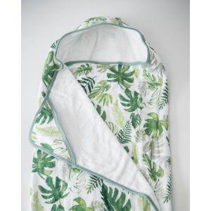 Little Unicorn Cotton Hooded Towel Big Kid Tropical Leaf