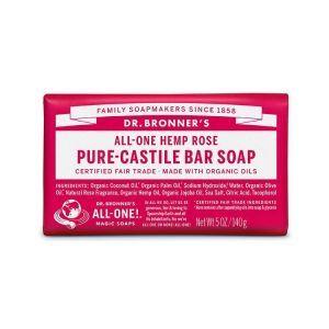 Dr. Bronner's Pure Castile Bar Soap Rose 140g